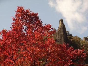 耶馬溪の一目八景で紅葉狩り